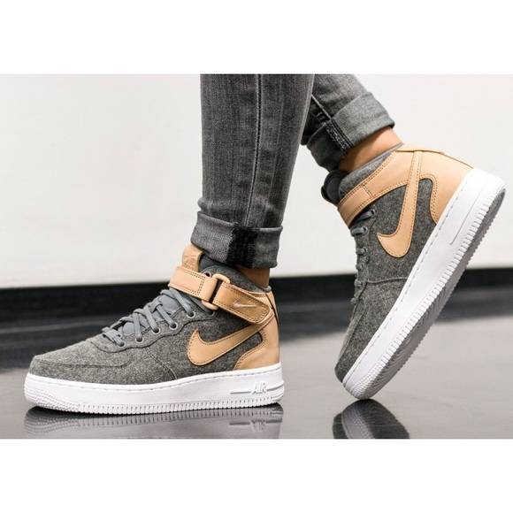sneakers for cheap a402d 73e73 Nike Air Force 1  07 Mid Leather Premium Sneakers.  M 5a6beb069a9455bbc17c63be